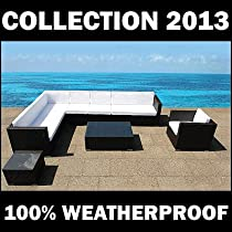 Hot Sale OUTDOOR PATIO RESIN WICKER POLY RATTAN GARDEN FURNITURE SECTIONAL LOUNGE - XXL