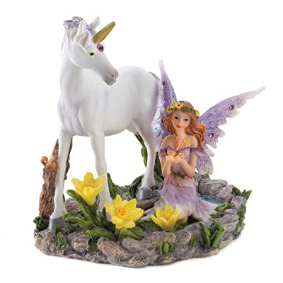 Gifts & Decor Forest Magic Unicorn Fairy Figurine Home Accent Decor