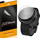 [6-Pack] SUPERSHIELDZ- Anti-Bubble High Definition Clear Screen Protector For Motorola Moto 360 + Lifetime Replacements Warranty [6-PACK] - Retail Packaging