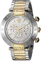 Versace Men's 'REVE CHRONO' Swiss Quartz Stainless Steel Casual Watch, Color:Two Tone (Model: VQZ110015)