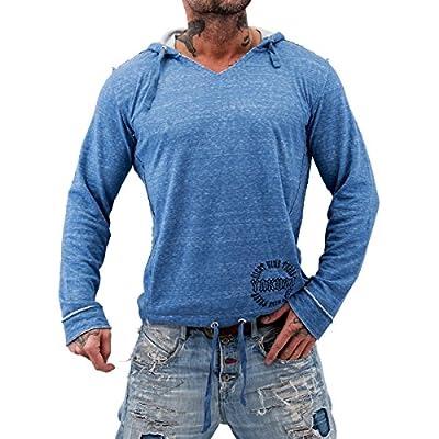 Yakuza ORIGINAL Hoodie HOB 480 - blau meliert