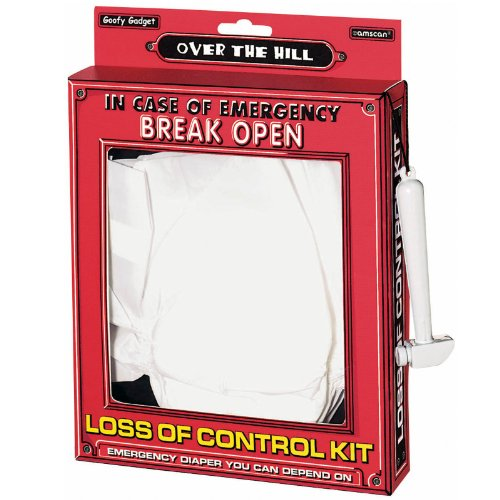 "Amscan Humorous Emergency Loss of Control Kit, White, 8 1/4"" x 10 1/4"" x 1 1/2"""