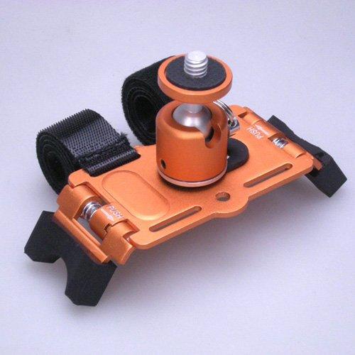 【カメラマウント】デジカメ用コンパクト アクションマウント (ボール雲台付) PS-13B オレンジ / METRIX