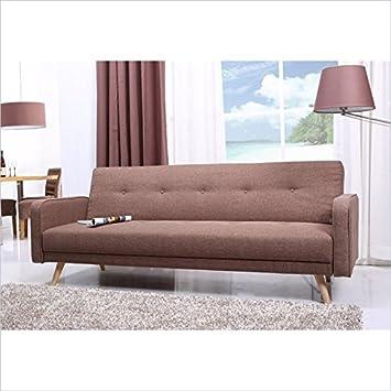 Abbyson Living Florence Sleeper Sofa in Khaki