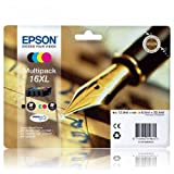 Epson 16XL Original Multipack Ink Cartridges (Pen & Crossword) T1636 for Epson WorkForce Printers WF 2010W, WF 2510WF, WF 2520NF, WF 2530WF, WF 2540WF.