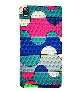 Colourful Pattern 3D Hard Polycarbonate Designer Back Case Cover for Lenovo K3 Note :: Lenovo A7000 Turbo