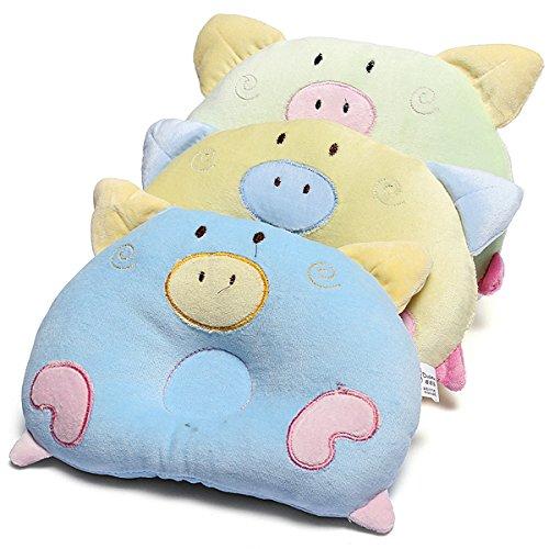 Soft Newborn Baby Round Pillow Sleeping Support Prevent Pad Flat Head Cushion