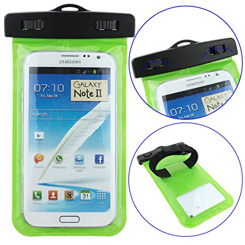 Ancerson New Stylish Swimming Waterproof Case Sleeve Bag Cover Shell 20 Meter Underwater Diving With Neck Lanyard For Phones, Digital Camera, Gps And Other Small Devices Such As Samsung Galaxy Mega 6.3 I9200 I9205/Mega5.8 I9152 I9150 I9158/S5 I9600/S4 I95