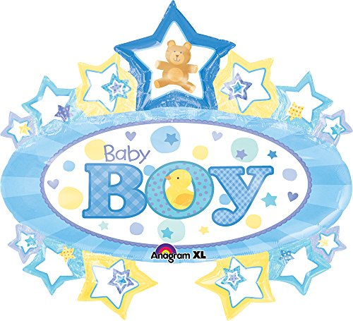 "Anagram International Baby Boy Marquee Shape, 31 by 28"", Multicolor"