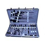 Pradel Excellence 31123 Valise Cuisinier 22 Pièces 15 Ustensiles + 7 Couteaux de Cuisine