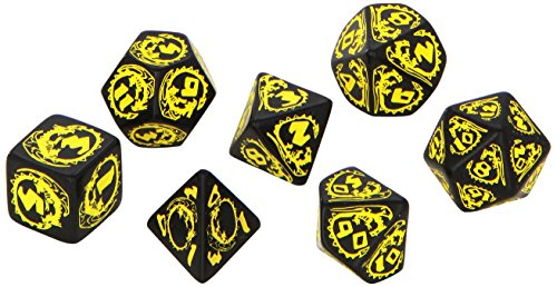 Dragon Dice Black/Yellow (7) Board Game - 1