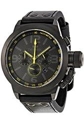 TW Steel Men's TW900 Cool Black Black Leather Strap Watch