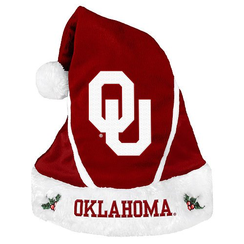 Oklahoma Sooners Santa Hat - Colorblock 2014 - Licensed NCAA College Gift