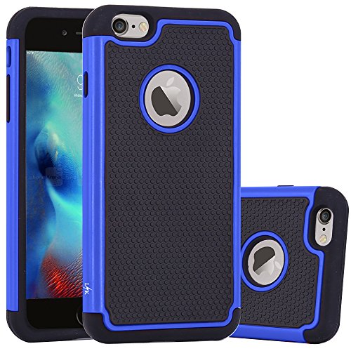 iPhone 6S Plus Case, iPhone 6 Plus Case, LK [Shock Absorption] Drop Protection Armor Hybrid Dual Layer Defender Protective Case Cover for iPhone 6S Plus / iPhone 6 Plus 5.5 Inch, Blue (Dual Protection compare prices)