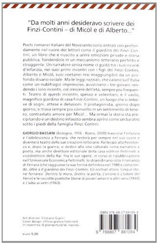 Libro il giardino dei finzi contini di giorgio bassani - Il giardino dei finzi contini libro ...
