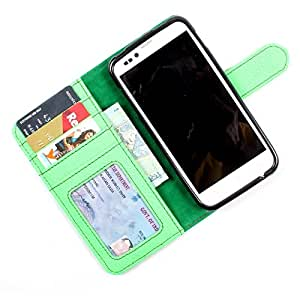 For Lava Xolo Q1010 - PU Leather Wallet Flip Case Cover