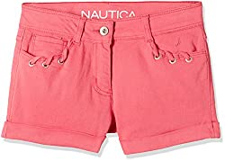Nautica Kids Girls' Shorts (34G02B695_Rose_05)