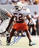Ray Lewis Miami Hurricanes Autographed 8'' x 10'' White Jersey Ref In Back Photograph - Fanatics Authentic Certified