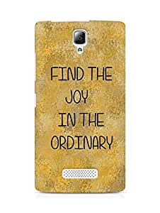 AMEZ find the joy in the ordinary Back Cover For Lenovo A2010