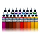 INTENZE TATTOO INK 19 COLOR SET 1 oz bottle - 100% Authentic