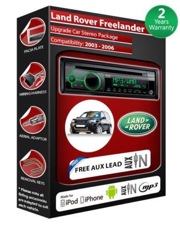 Land Rover Freelander Clarion CZ102EG de lecteur CD et stéréo de voiture avec entrée auxiliaire en façade