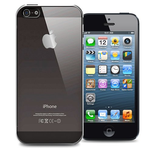KaysCase Slim Hard Shell Cover Case for Apple iPhone 5 (Clear)