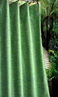 Meadow Green faux silk lined curtain