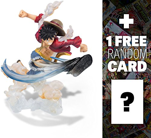 "Monkey D. Luffy (Gum-Gum Hawk Whip): ~5.9"" One Piece x 'Chogekisen - EXTRA BATTLE' Figuarts Zero Figure + 1 FREE Official One Piece Trading Card Bundle"