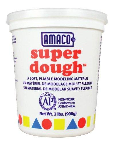 Amaco Super Dough Modeling Compound - 8 oz - White