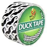 Duck Brand 281026 Mustaches Printed Duct Tape, 1.88-Inch by 10 Yards, Single Roll