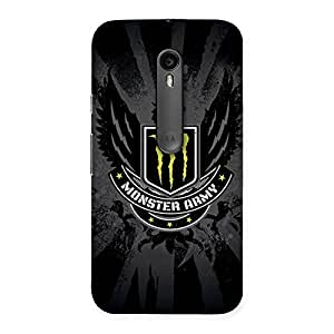 Cute Army M Multicolor Back Case Cover for Moto G3