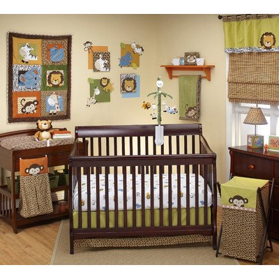 Nojo Crib Bedding Set, Zambia front-1015290