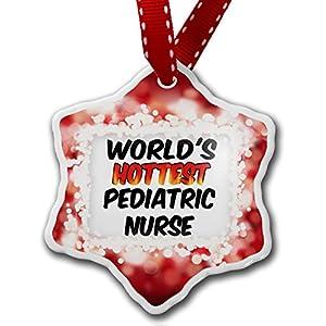 Amazon.com - Christmas Ornament Worlds hottest Pediatric Nurse, red