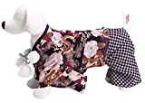 [Everyday holiday]ワンちゃん用晴着 羽織袴 牡丹龍 紫色 /ドッグウェア 犬服 着物 和服 和装 小型犬 (2号)