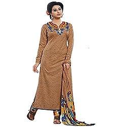 Lakshmi Fashion Creation Women's Cotton Dress Material ( Coffee )
