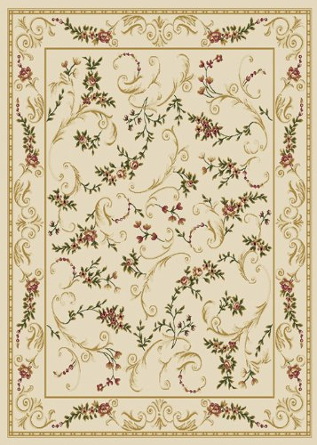 Home Dynamix Optimum 11019-100 Ivory 3-Feet 7-Inch by 5-Feet 2-Inch Transitional Area Rug