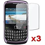 3-Pack Reusable Screen Protector for Blackberry Curve 3G / 9300