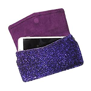 i-KitPit : PU Leather Pouch Case With Magnetic Closure For Gionee Gpad G5 (PURPLE)