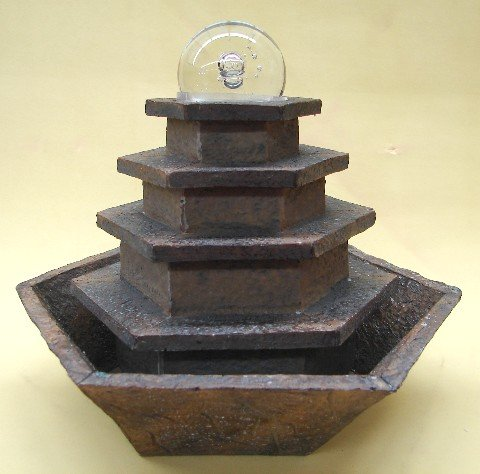 Cheap Five Tiers Tabletop Water Fountain with Crystal Ball on Top (B0040NAMBU)