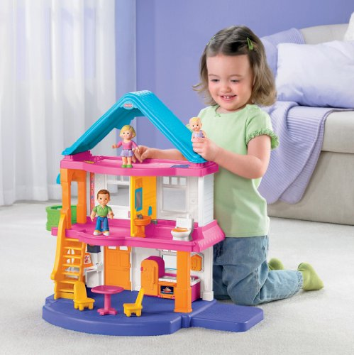 Fisher price my first dollhouse playset furniture baby for Baby and kids first furniture