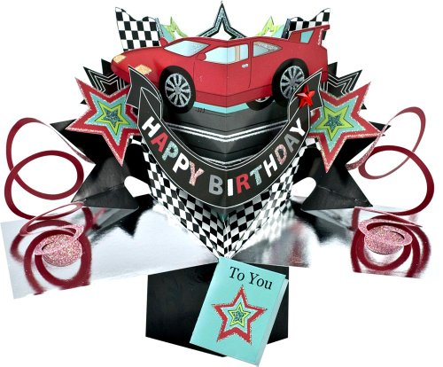 THE ORIGINAL POP UPS - 006 - CAR - BIRTHDAY CARD - 1
