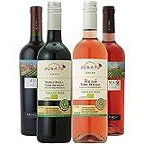 【Amazonバイヤー厳選】オーガニックワイン イタリアVSアルゼンチン 赤白ロゼ 飲み比べ 750ml×4本セット