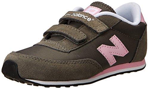 New Balance Ke410 Hook And Loop Running Shoe (Infant/Toddler/Little Kid/Big Kid),Grey/Pink,6 M Us Toddler front-960049