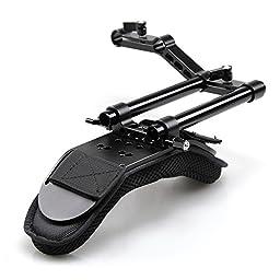 Smallrig Shoulder Pad with Cool Raiser /Aluminum Alloy Rods for Shoulder Rig System Video Camera Dslr Camcorders - 1511