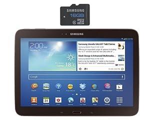 "Samsung Galaxy Tab 3 Tablette tactile 10.1"" 16 Go Wifi Noir + Carte Micro SD Samsung 16 Go + 3 euros de crédit sur l'App-Shop Amazon.fr"