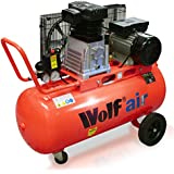 Wolf Dakota 90 Litre, 3HP, 14CFM, 240v, MWP 150psi, 10BAR Twin Cylinder Pump Belt Driven Air Compressor