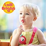 LOLLIBRIGHTS: Americas First Color Changing Light-Up Lollipop! 6 Delicious Flavors; Green Apple Frog, Strawberry Rose, Smiley Lemon, Orange Goldfish, Blue Raspberry Bear, and Cherry Heart! (6)