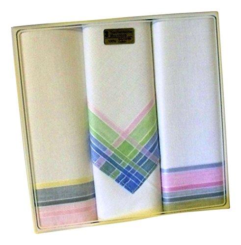 3-Stck-Damentaschentcher-weigrundig-mit-farbigen-Satinkanten-fondfarbig-mit-bunten-Kanten-reinwei