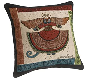 Laurel Burch 18-inch Angelicat Square Pillow