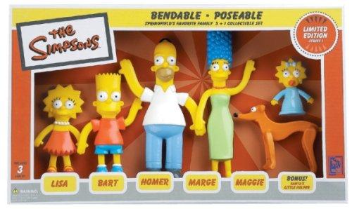 Set Homer Marge Bart Lisa Maggie And Santa S Little Helper